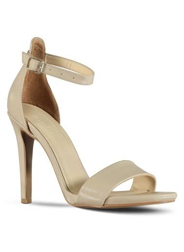 Marjin Topuklu Ayakkabı Bej